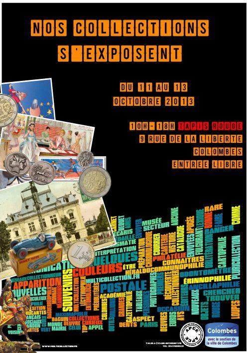 Affiche de l'exposition pluricollection de l'apce Colombes.
