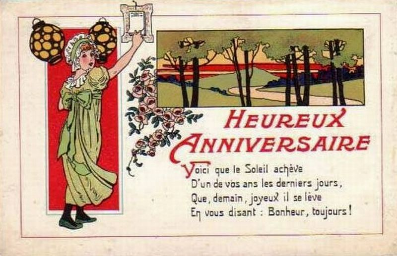 Joyeux anniversaire. | Webcom Multicollection.fr