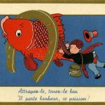 Carte postale Poisson d'Avril.
