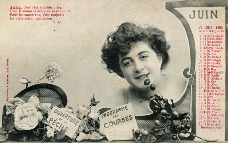 Carte postale - Juin le mois des cerises
